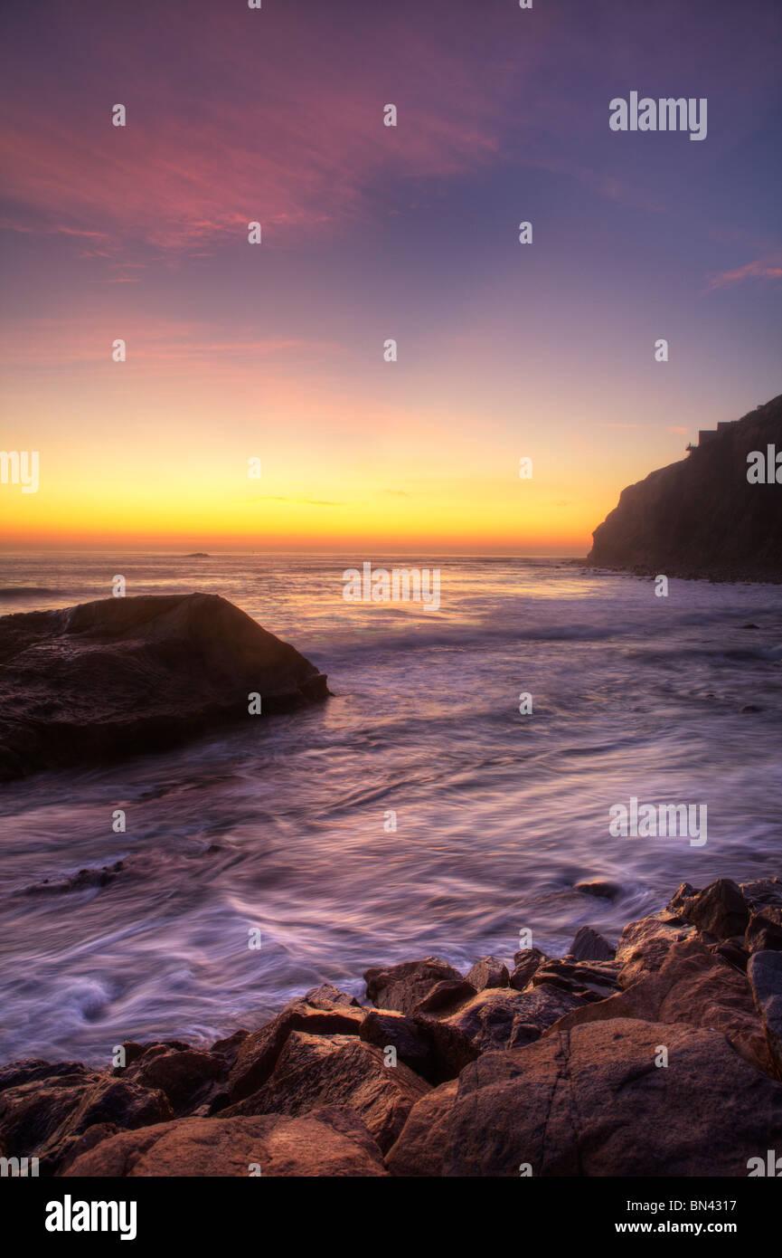 Sunset, Dana point, Indian head - Stock Image