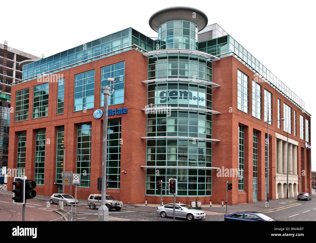 The business premises (since 2002) of the software and technology company Allstate Northern Ireland in Lanyon Place, - Stock Image
