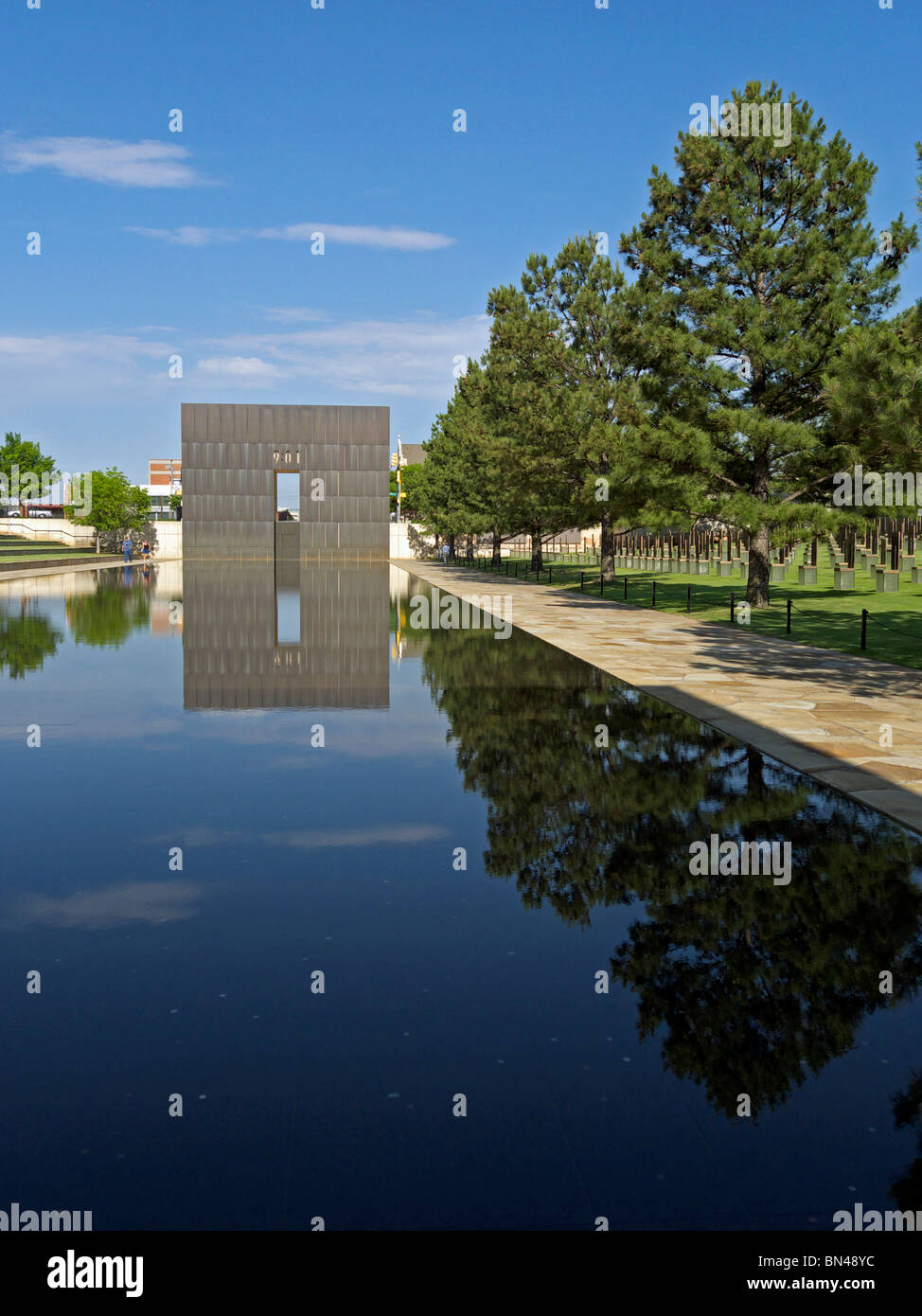The Oklahoma City National Memorial. Stock Photo
