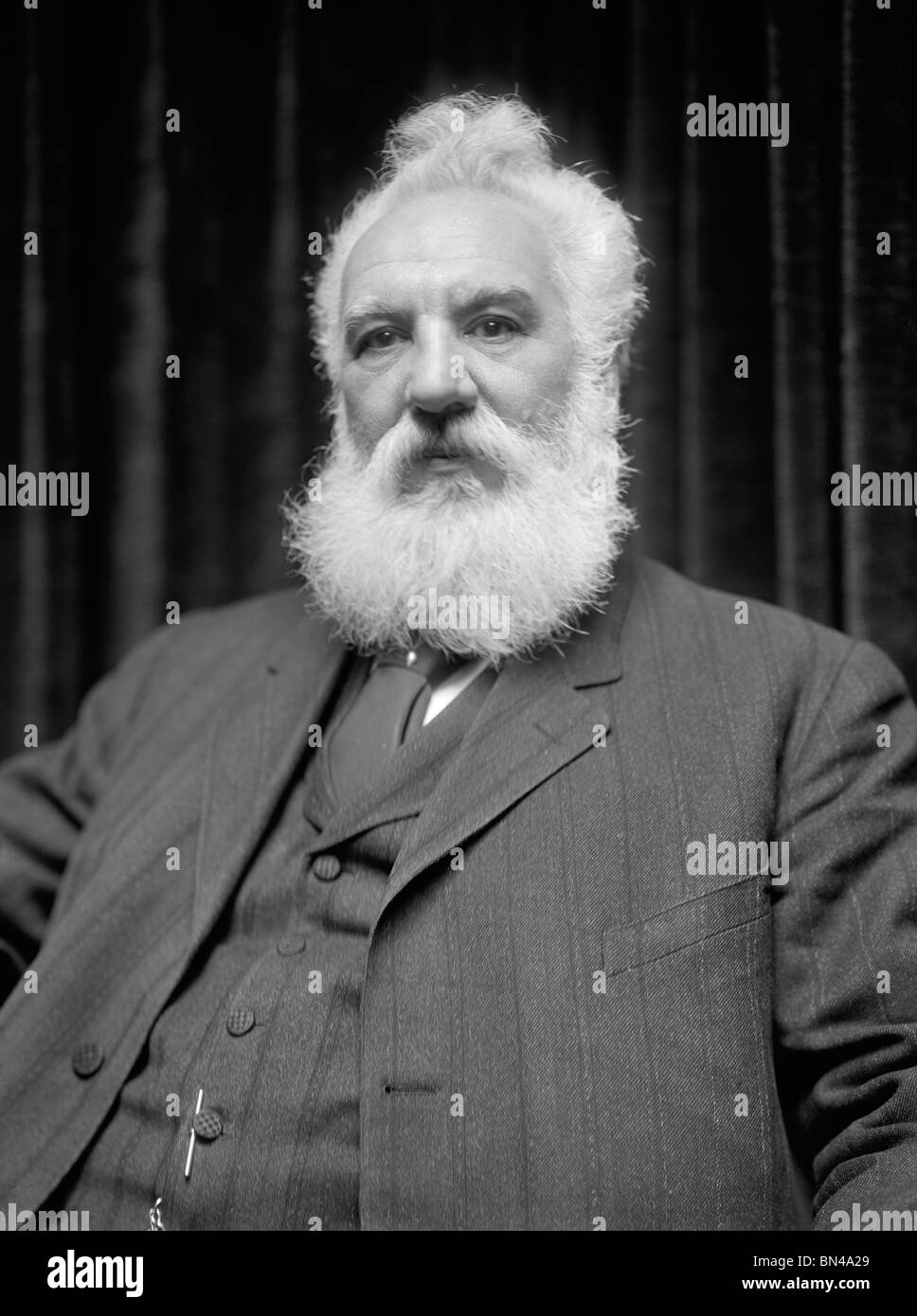 Undated photo of Scottish-born inventor Alexander Graham Bell (1847 – 1922) - creator of the world's first practical - Stock Image
