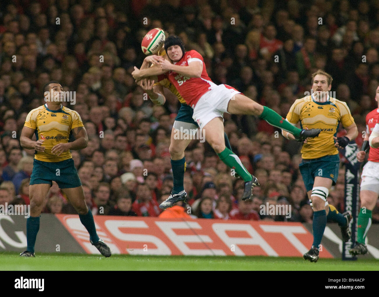 CARDIFF WALES 28-11-2010 Invesco Perpetual International Rugby Union match between Wales and Australia at the Millennium - Stock Image
