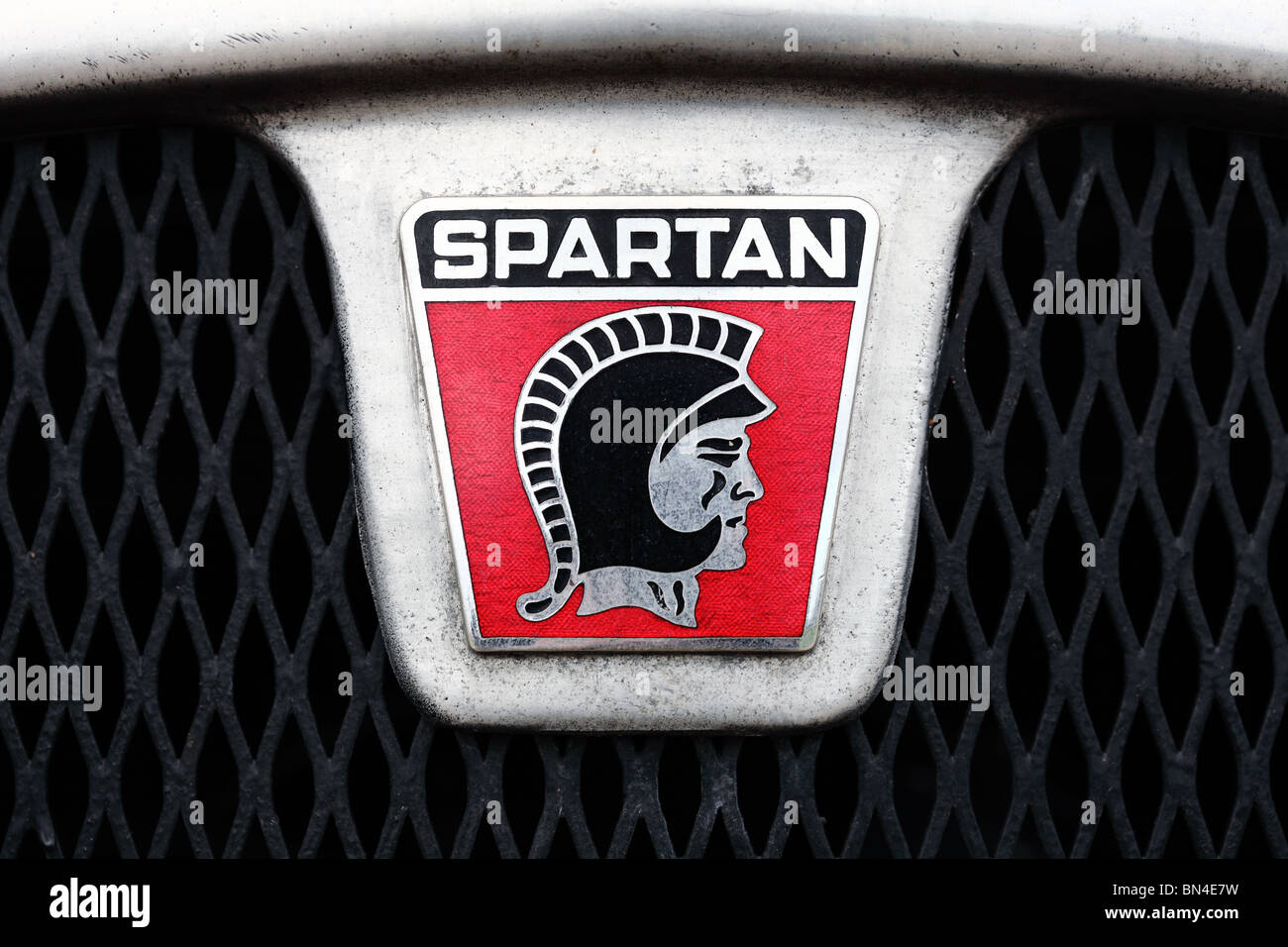Spartan British kit car manufacturer badge logo Stock Photo