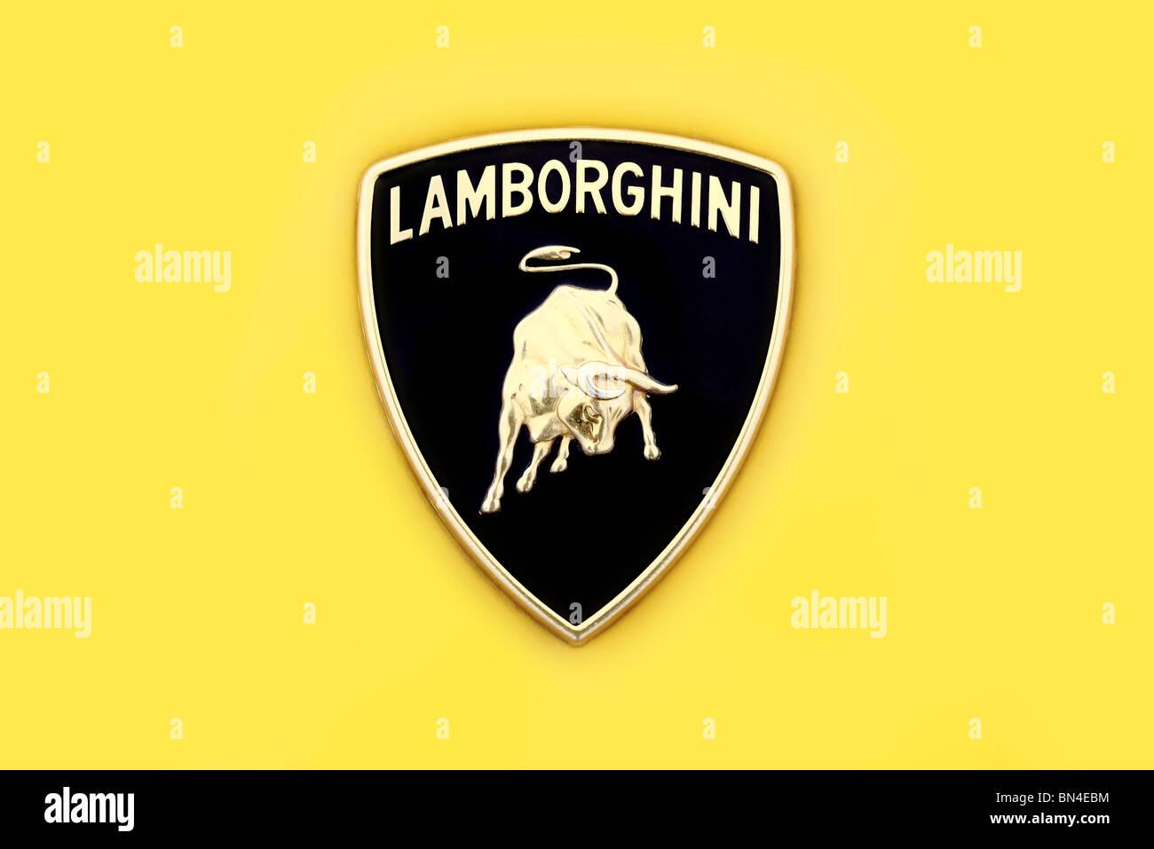 Lamborghini Car Manufacturer Hood Ornament Badge Logo Stock Photo