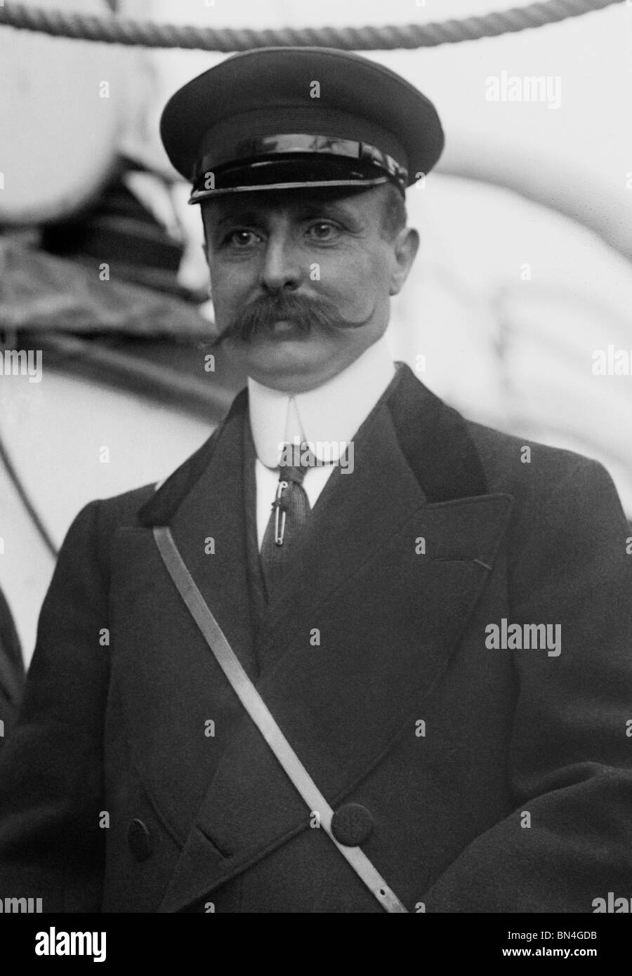 Aviator Louis Blériot (1872 – 1936) - the first man to fly a heavier than air machine across the English Channel - Stock Image