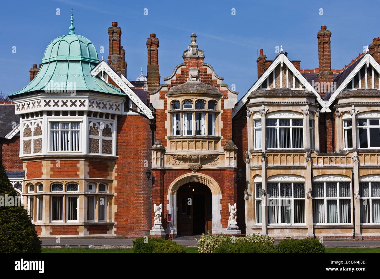 Bletchley Park in Milton Keynes, home of the World War II code breakers. Stock Photo