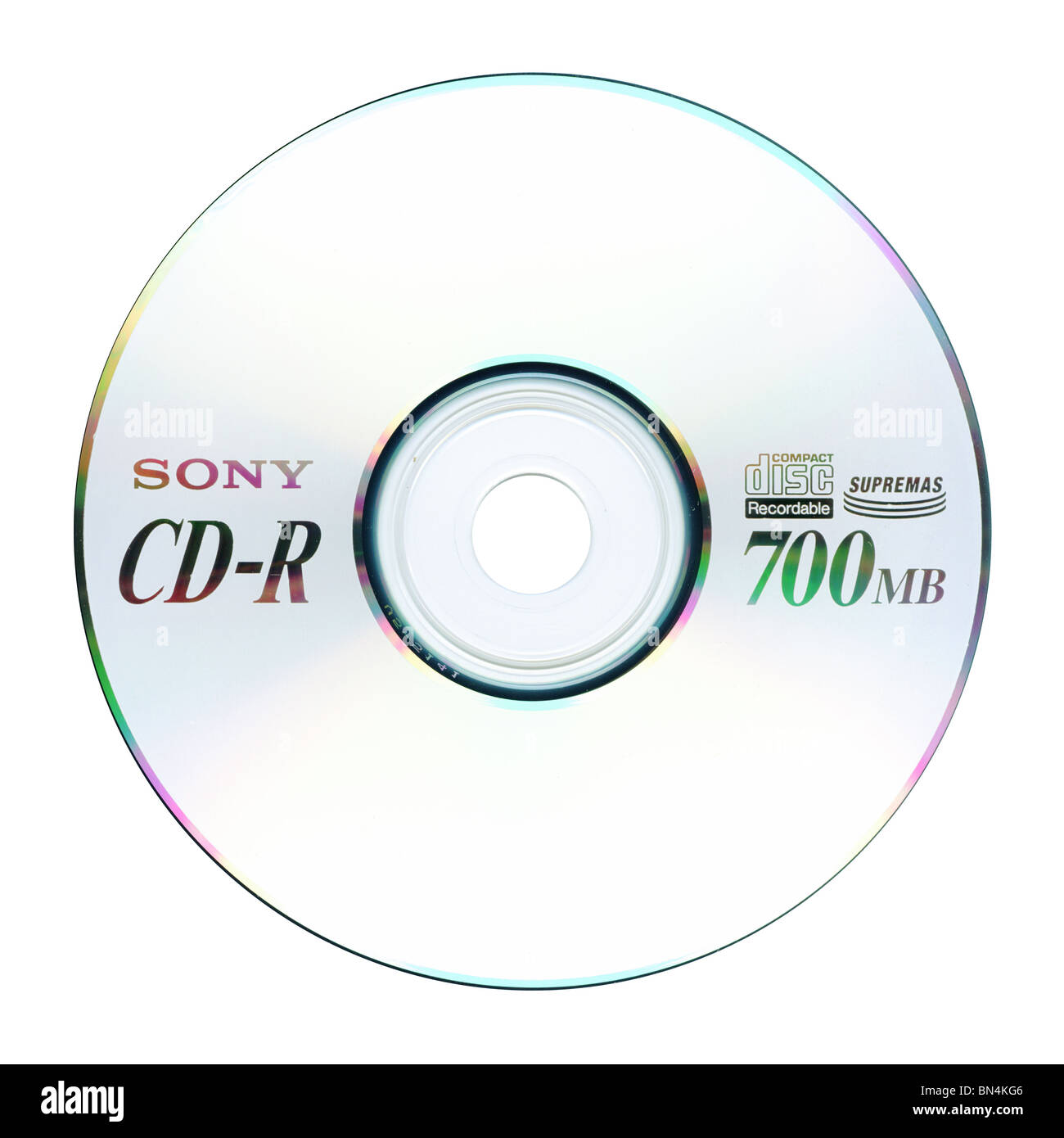 Sony CD-R compact disc 700MB - Stock Image