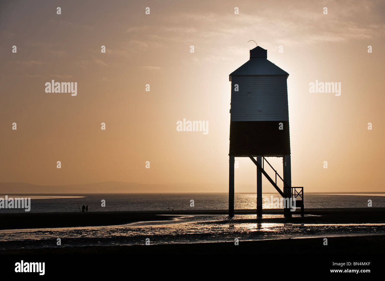 Burnham lighthouse at sunset - Stock Image