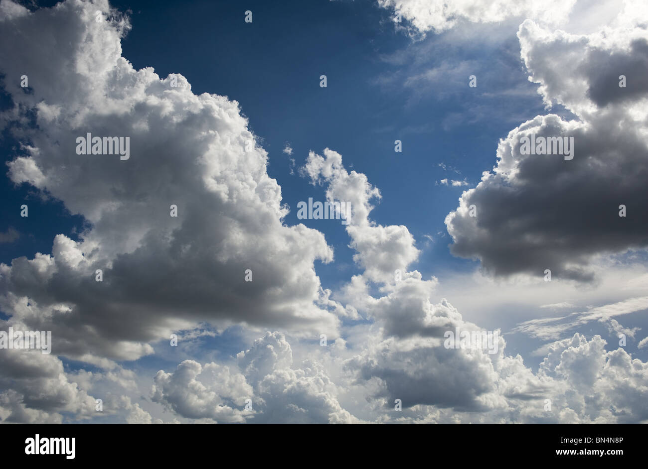 Blue Sky and Clouds - Stock Image