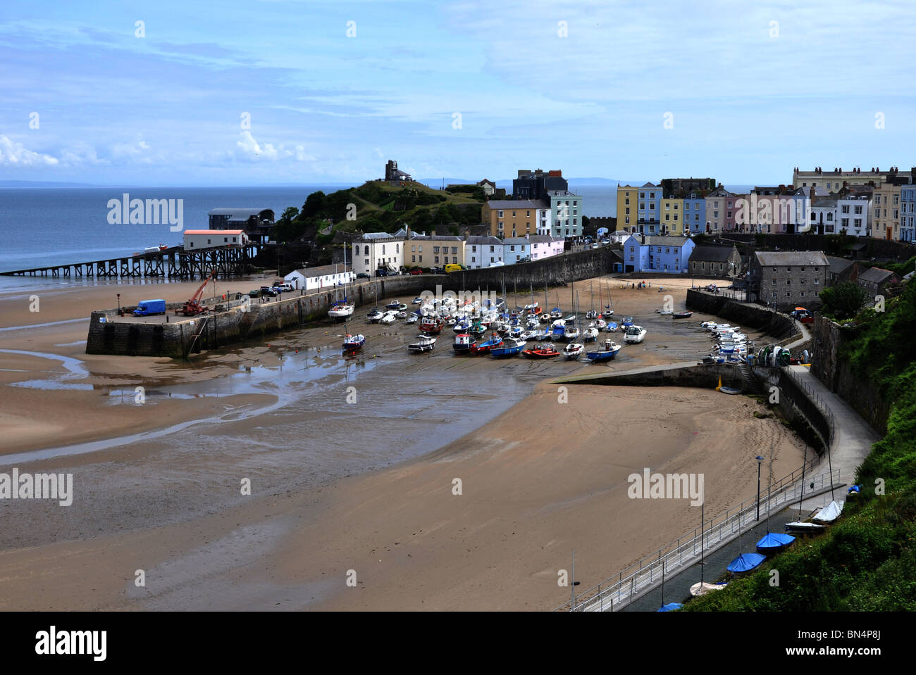 Tenby Harbour - Stock Image