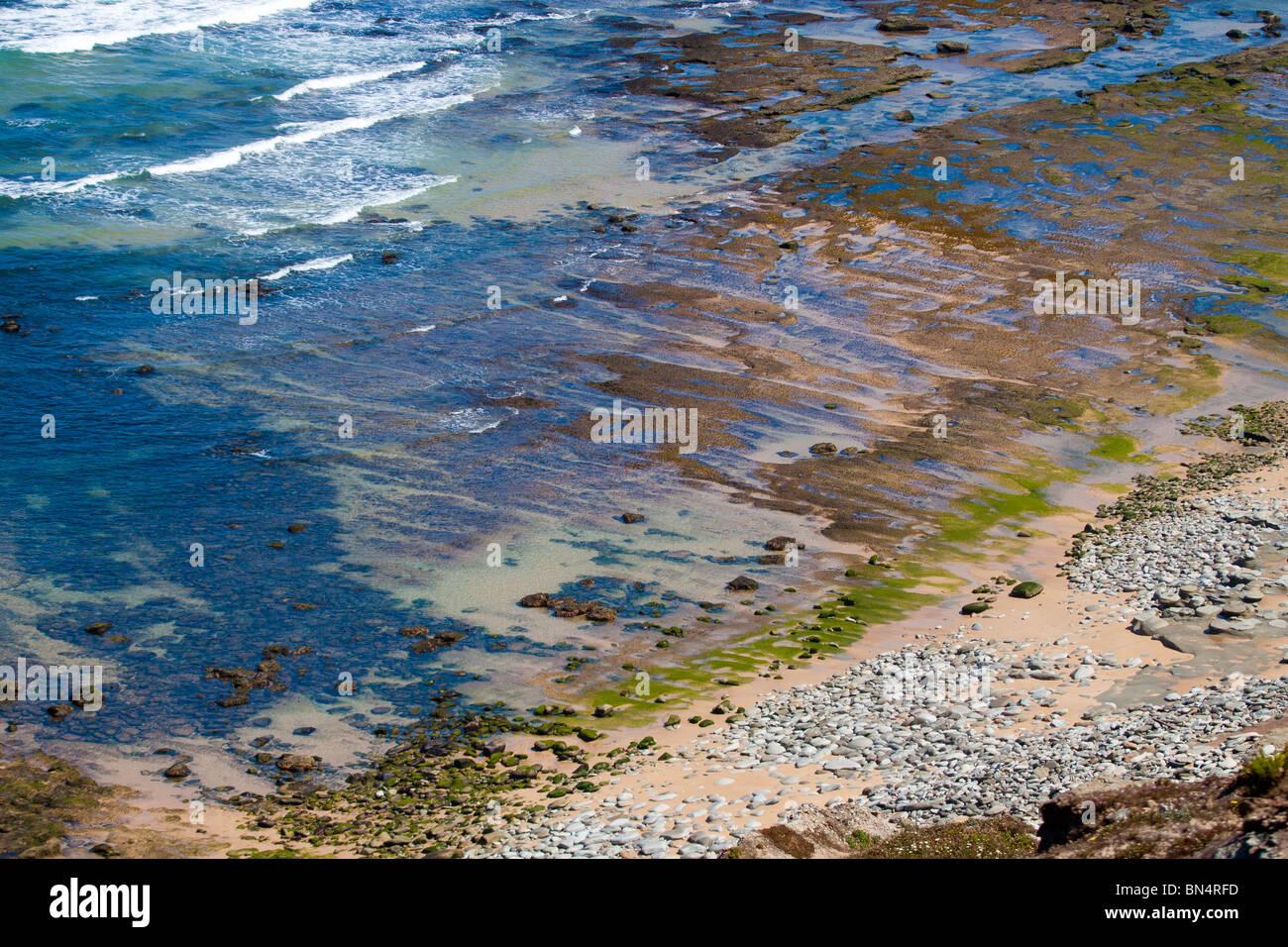beach, coast, color,portugal sea , torres vedras - Stock Image