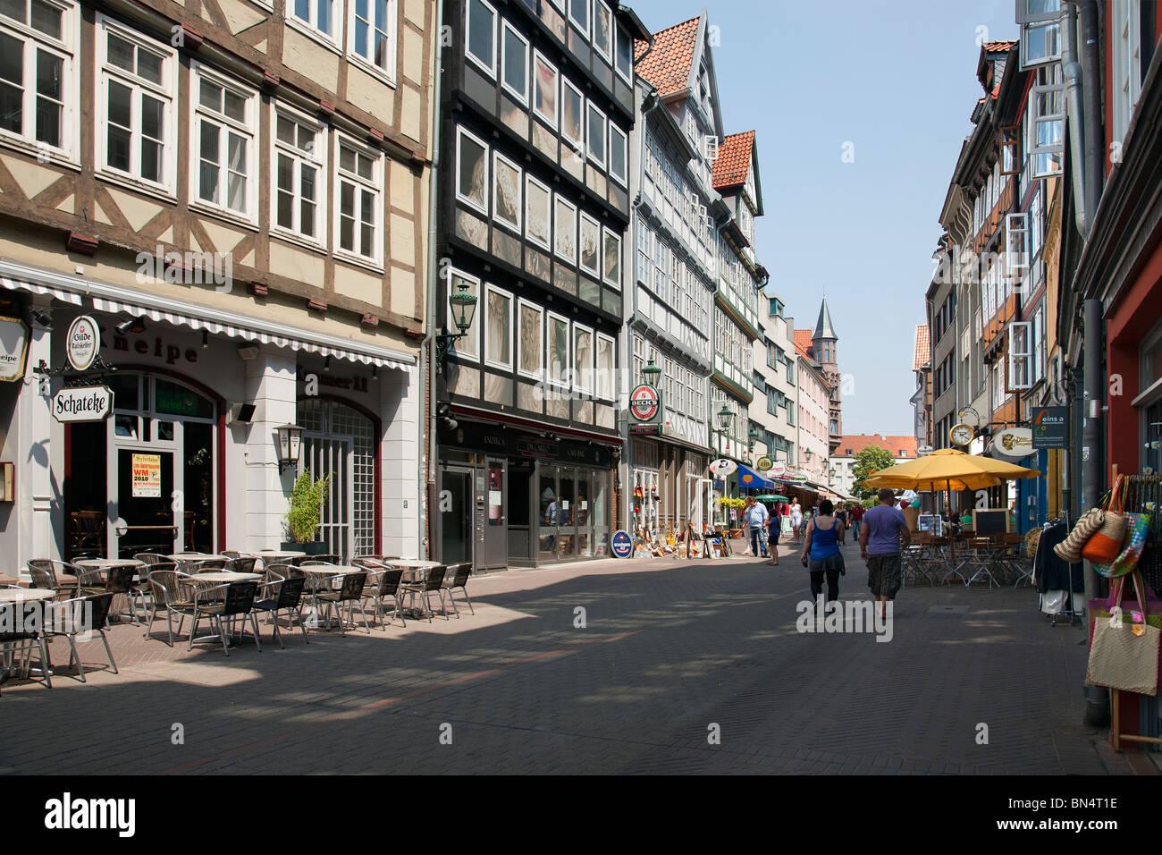 Altstadt, Kramerstrasse, Hannover, Lower Saxony, Germany - Stock Image