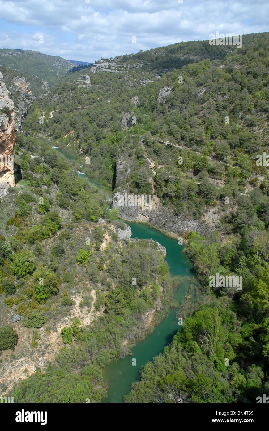 Jucar River, Serrania de Cuenca, Castile-La Mancha, Spain - Stock Image