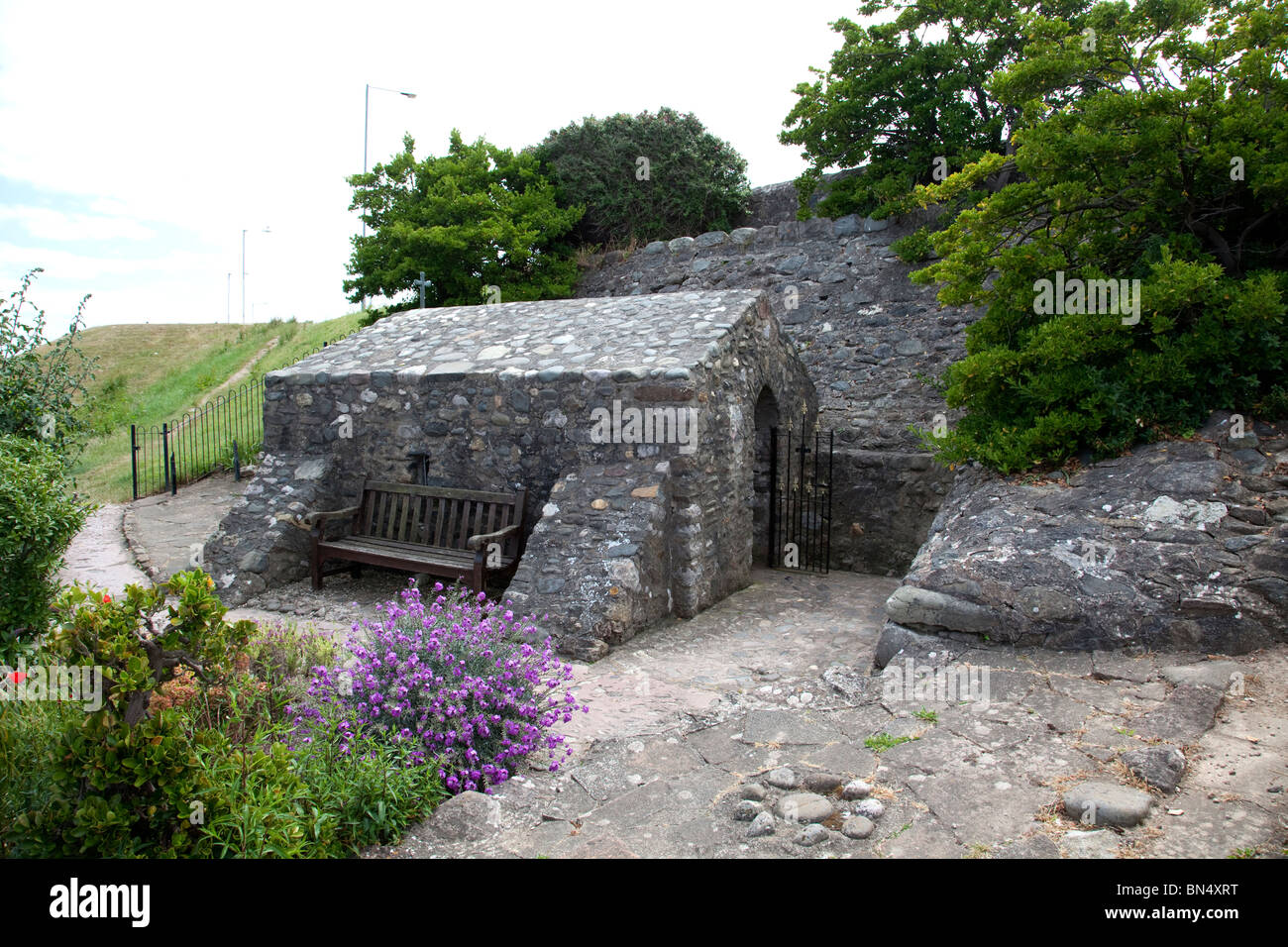 St Trillos Chapel believed to be the smallest church in the British Isles seating only 6 people situated at Rhos - Stock Image