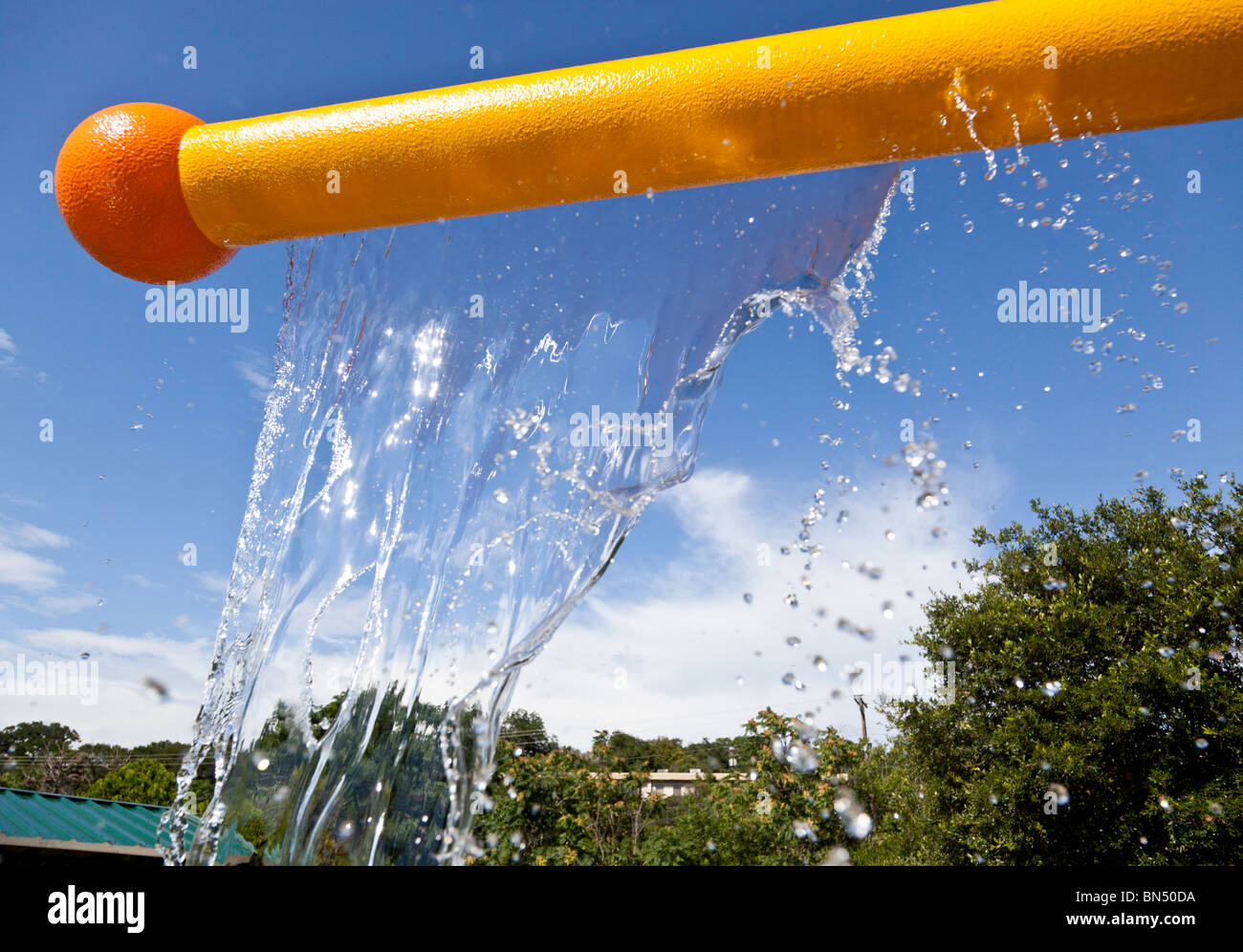 Water Feature in Pease Park in Austin, Texas - 2010 - Stock Image