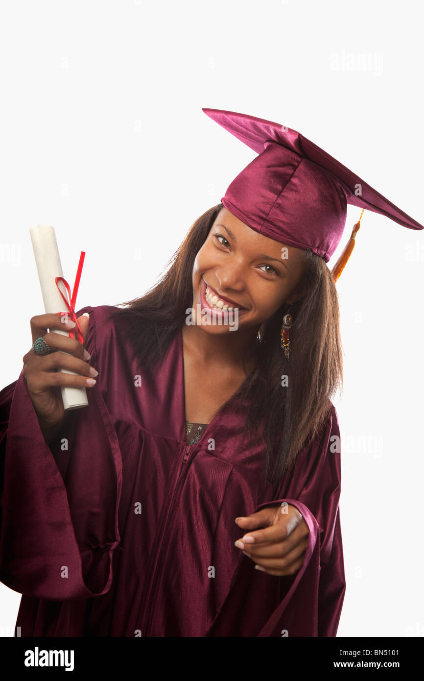 African American Graduation Gown Stock Photos & African American ...