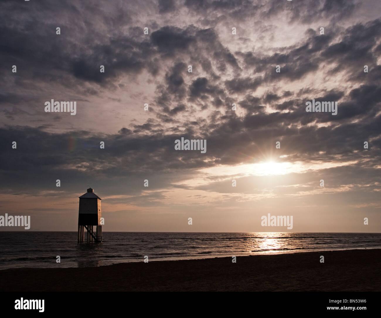 Lighthouse Burnham at sunset - Stock Image