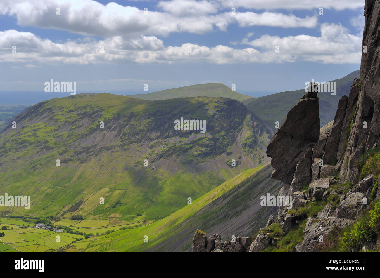 The Sphinx Rock Great Gable, in the Lake District Stock Photo