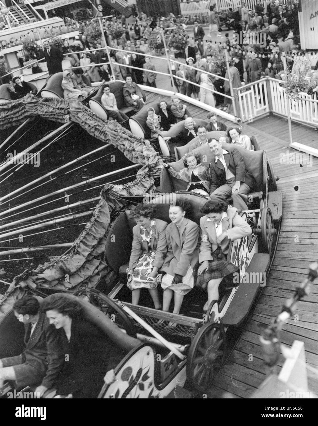 MARGATE FUNFAIR in 1951 - Stock Image