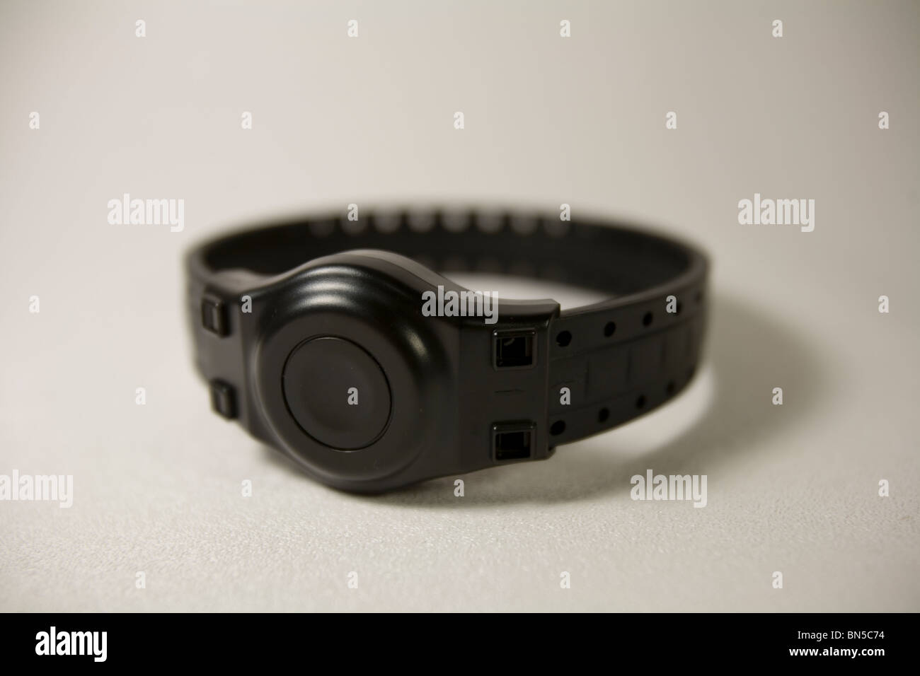 electronic his parole wears ankle photos monitor on stock photo device prisoner monitoring arrest image bracelet an