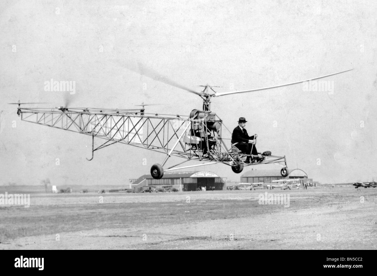 IGOR SIKORSKY (1889-1972) Russian-American aeronautical engineer who pioneered both fixed wing and helicopter aircraft - Stock Image