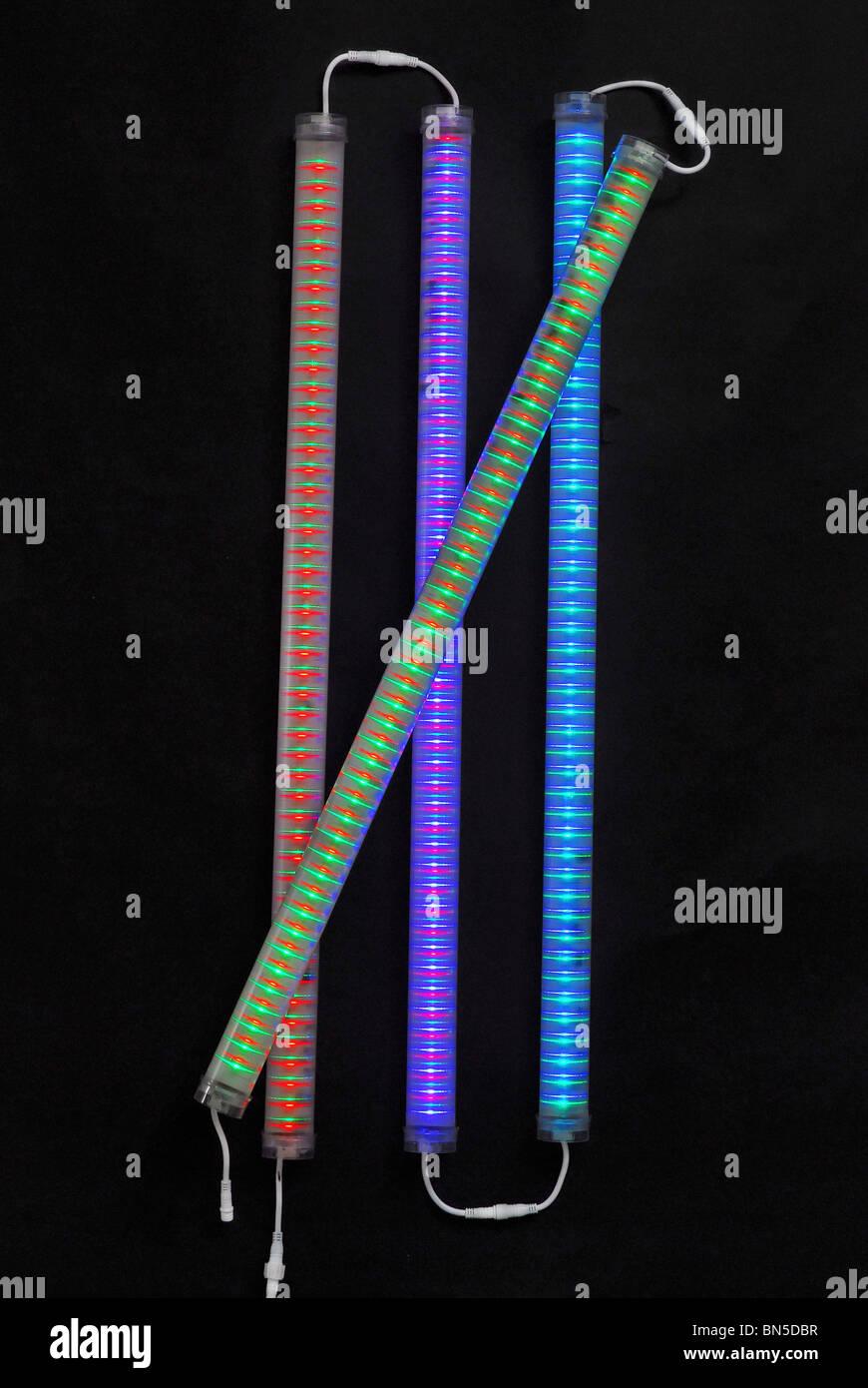Colourful LED Light Fixture - Stock Image