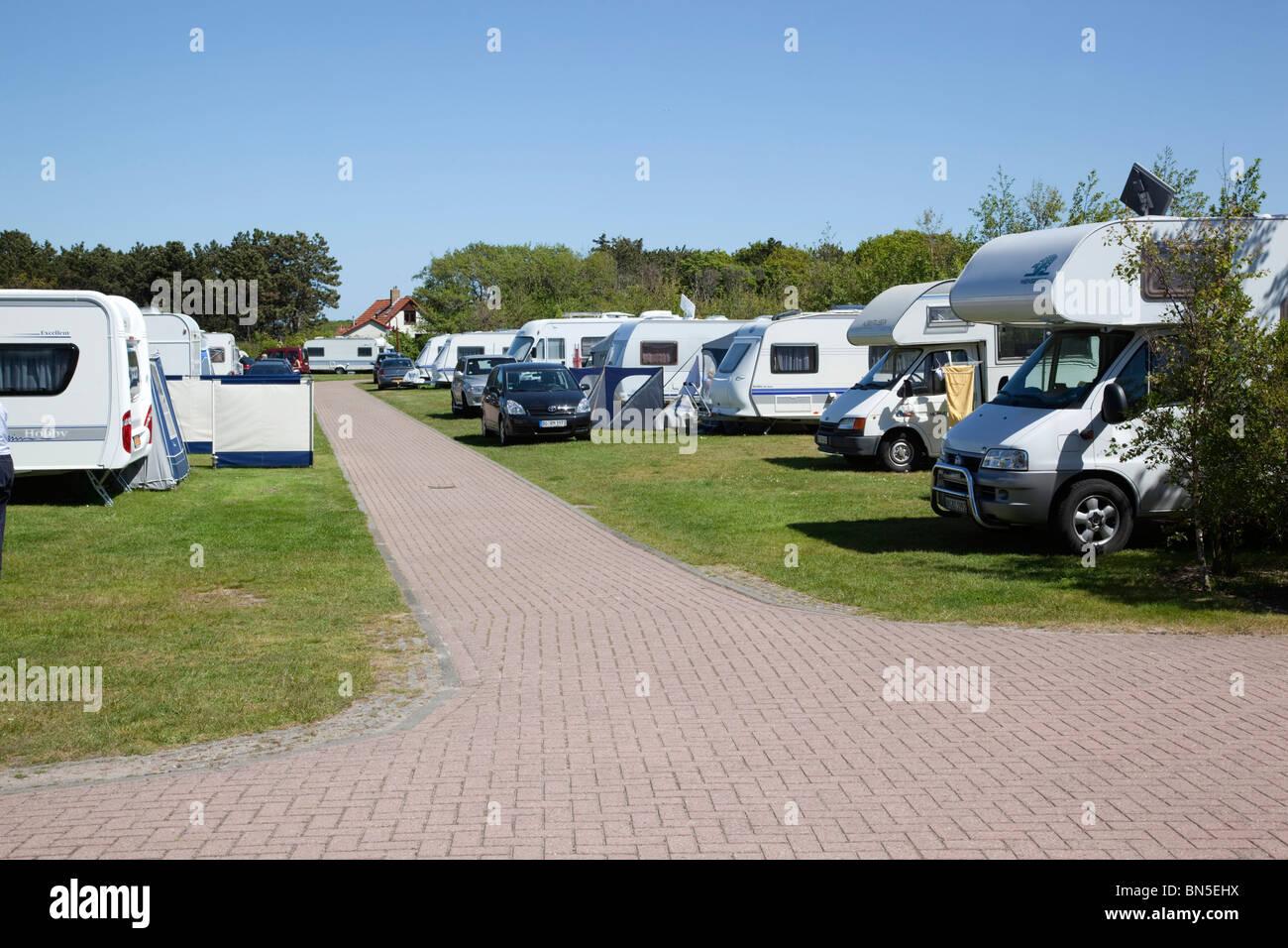 De Shelter campsite; De Koog; Texel; Netherlands - Stock Image
