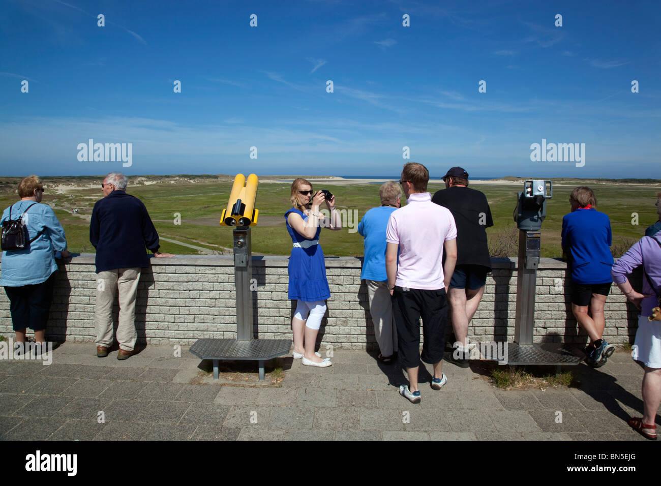 De Slufter view point; Texel; Netherlands - Stock Image