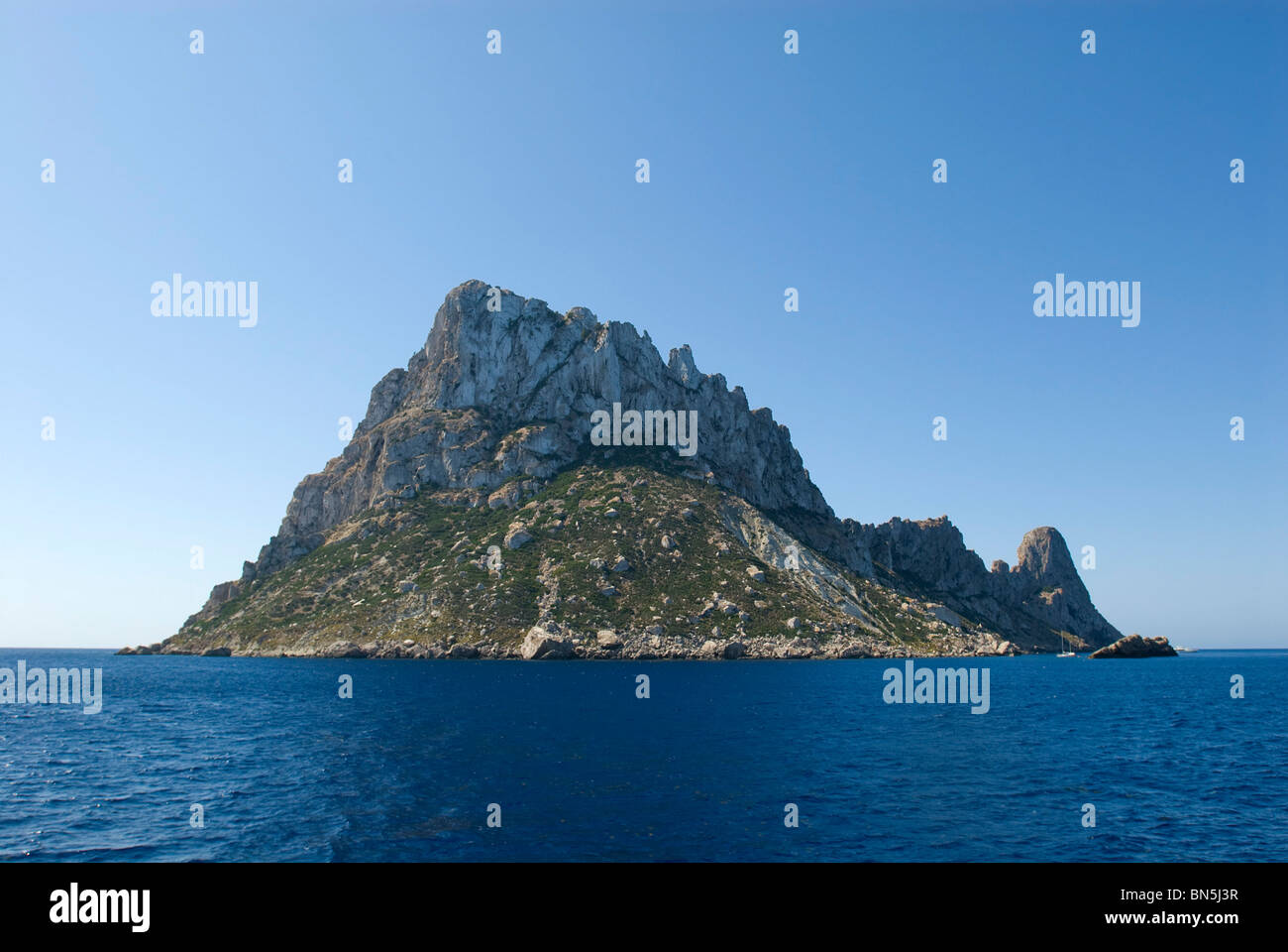 Es Vedra, Ibiza, Balearics, Spain - Stock Image