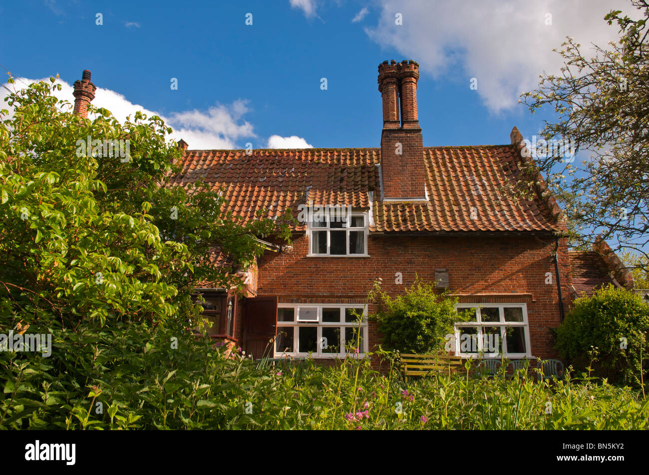 A country cottage in Suffolk , England , Great Britain , Uk - Stock Image