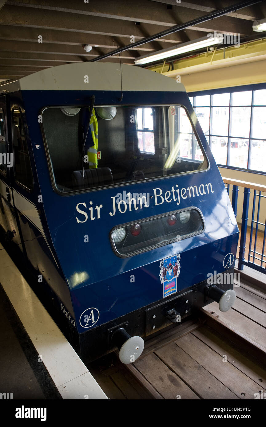 An electric train on Southend Pier in Essex Stock Photo