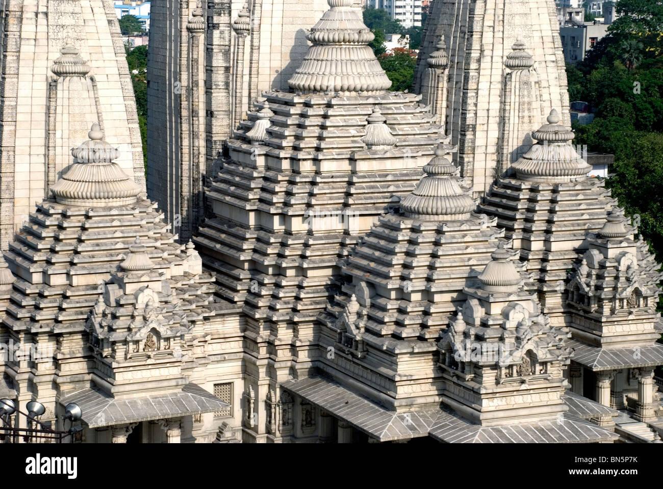 birla mandir temple calcutta west bengal india - Stock Image