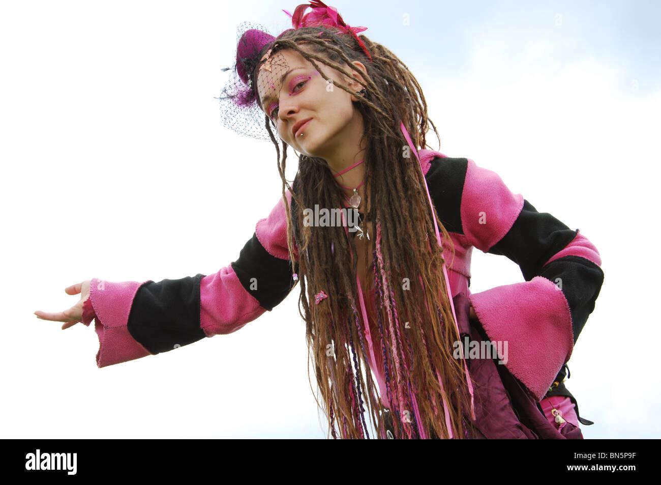 pink fairy in Glastonbury United Kingdom Stock Photo