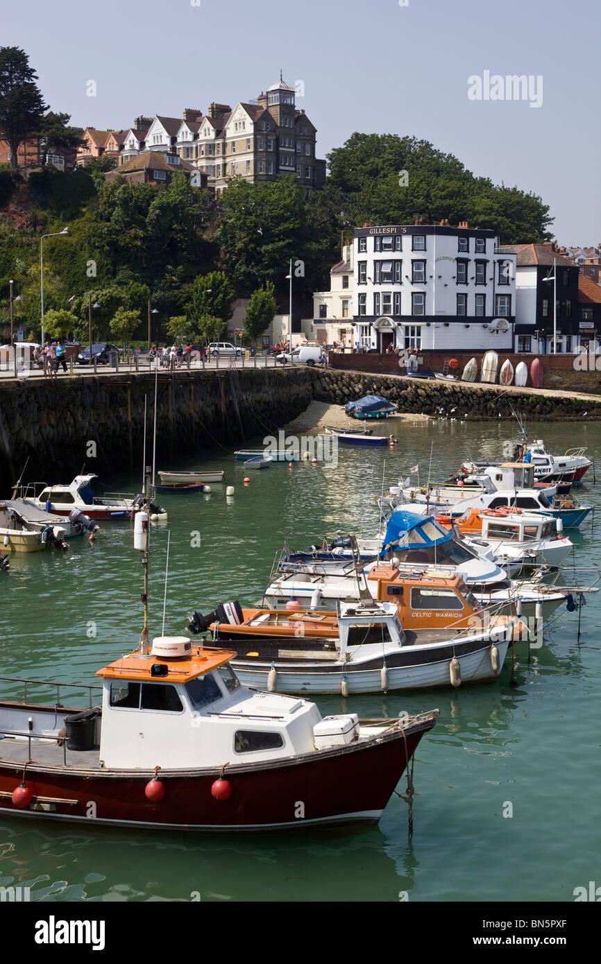 Harbour Folkestone Kent England UK - Stock Image