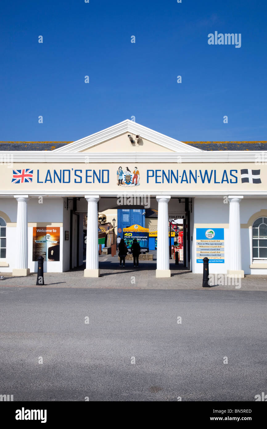 Land's End; entrance to attraction; Cornwall - Stock Image