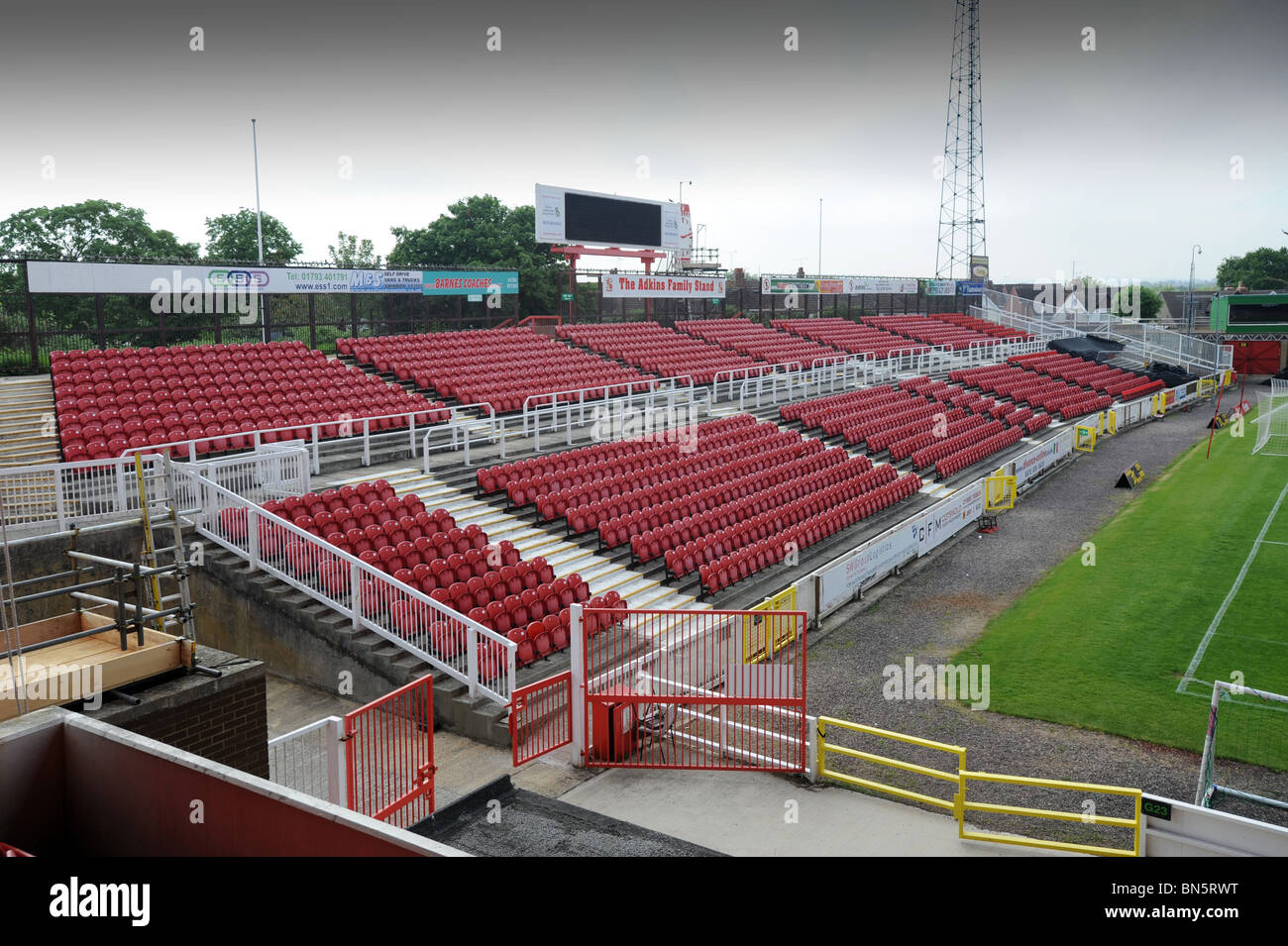 Swindon Town Football Club stadium The County Ground - Stock Image
