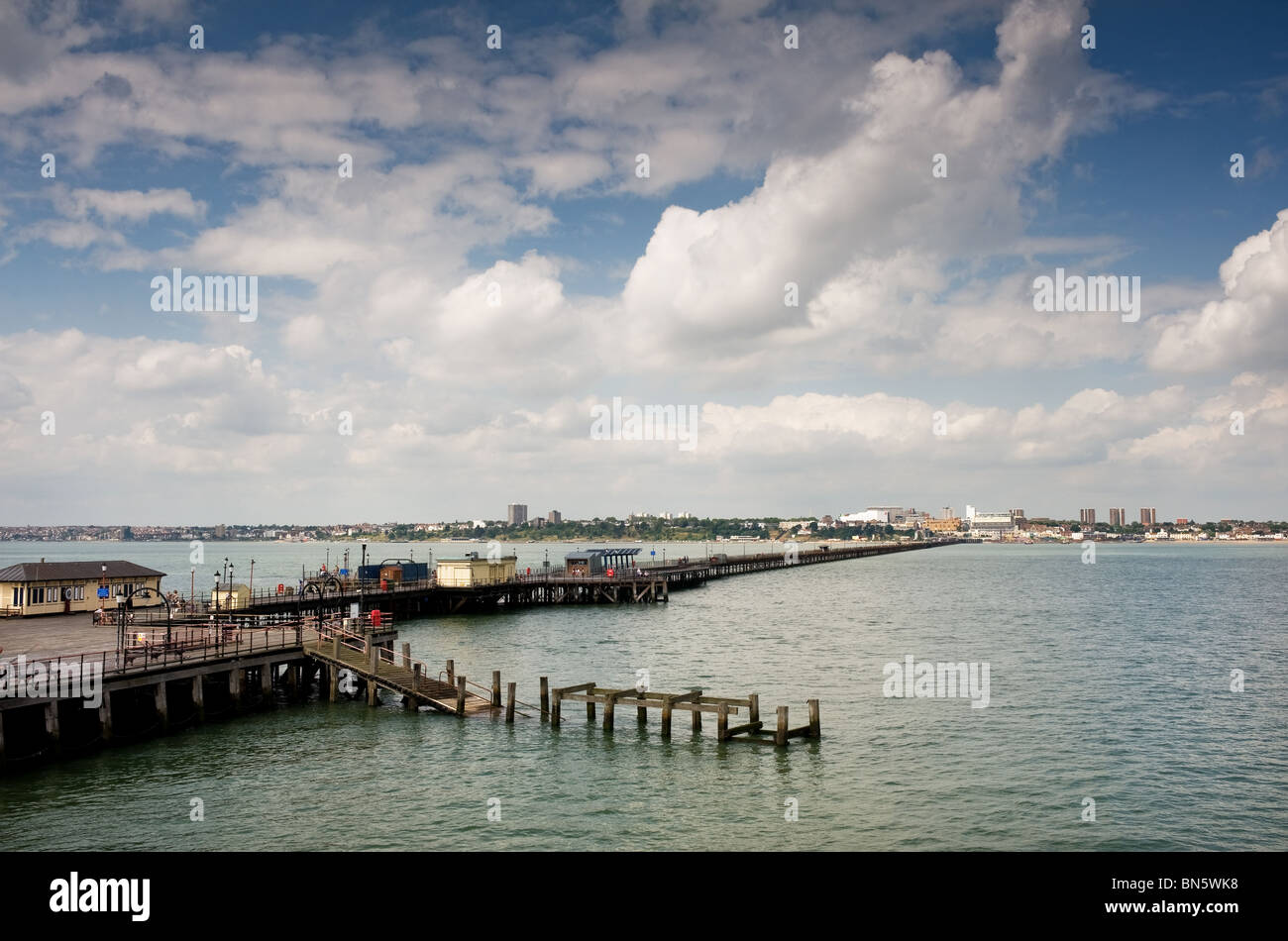 Southend Pier in Essex - Stock Image