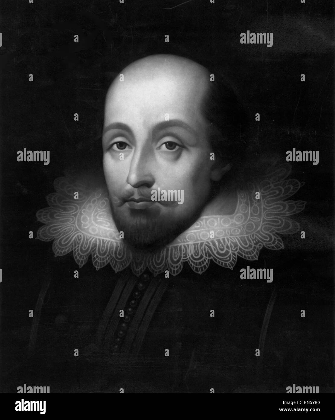Portrait of Sir Walter Raleigh an English aristocrat, writer, poet, soldier, courtier, and explorer - Stock Image