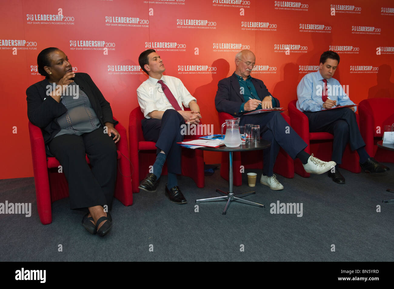 Candidates for Labour Party leadership at hustings with party members in Cardiff South Wales UK - Stock Image