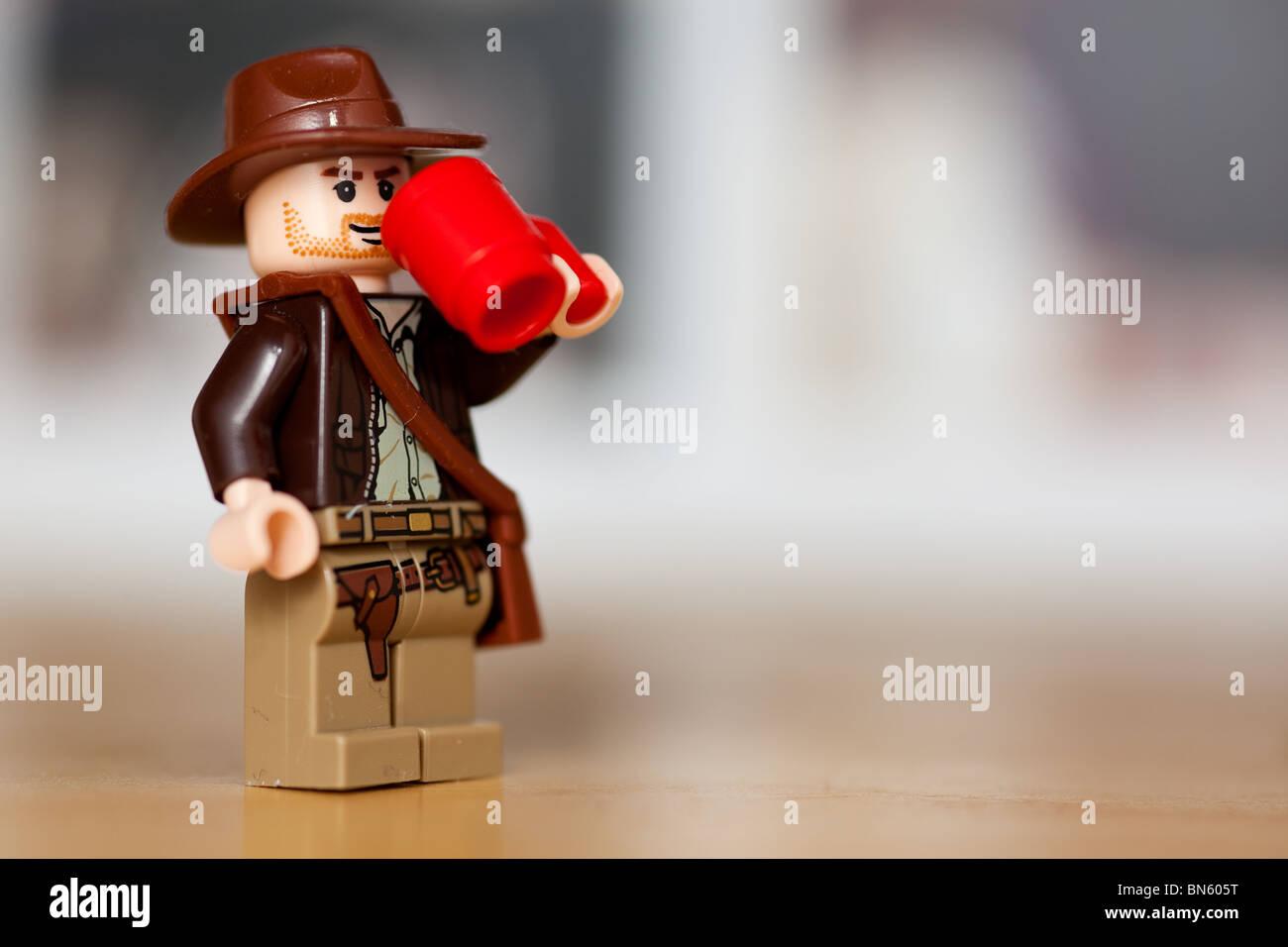 Indiana Stock Jones Coffee From Mug Drinking Lego Photo A Red rdBsQCtxh