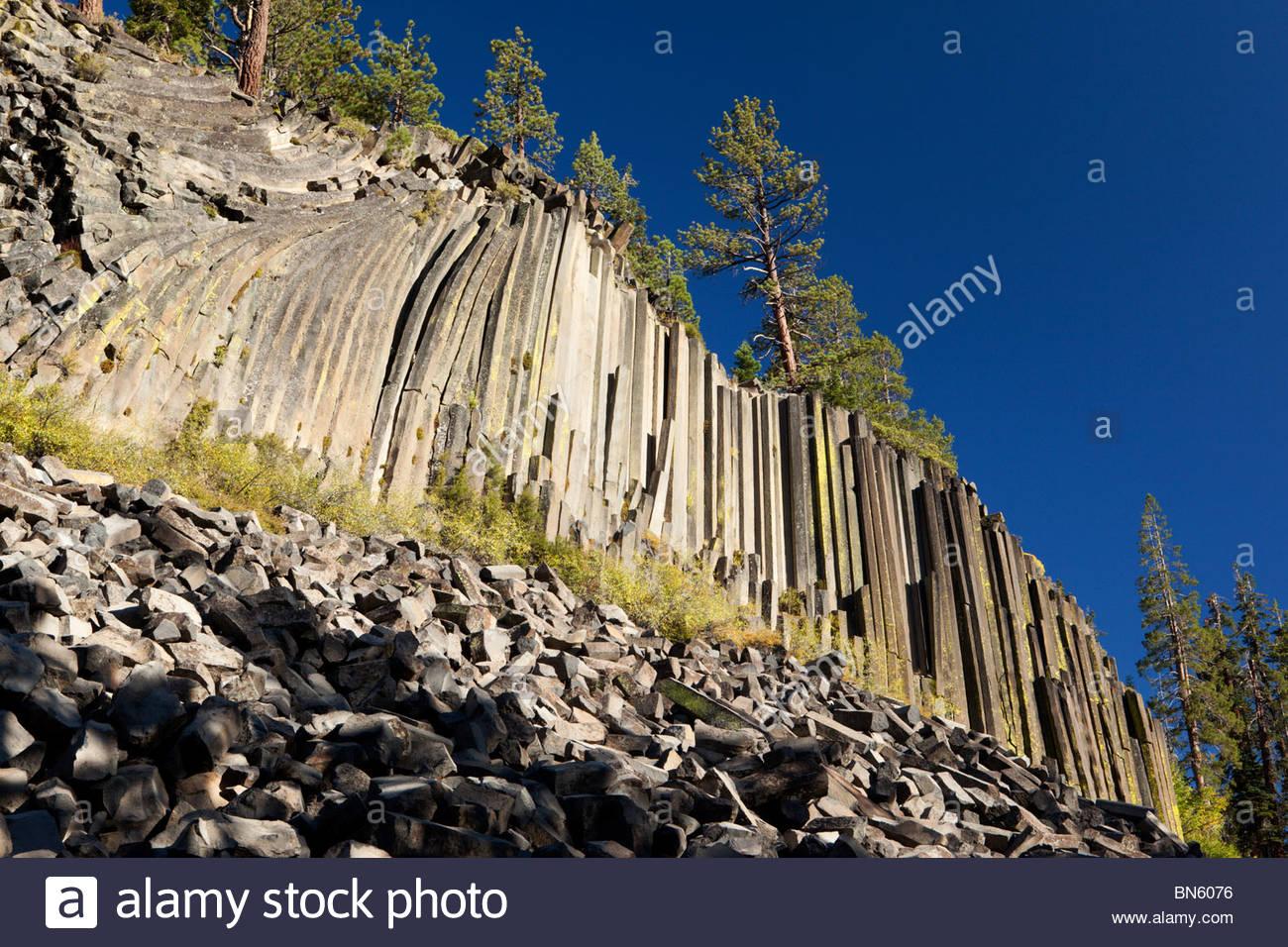 Devils Postpile National Monument, California - Stock Image