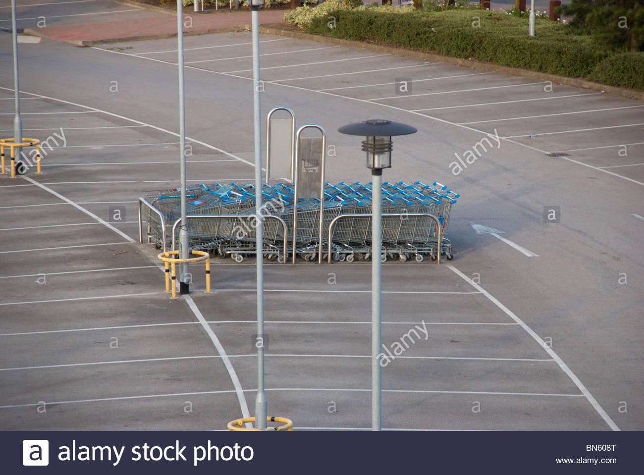 Empty car park. - Stock Image