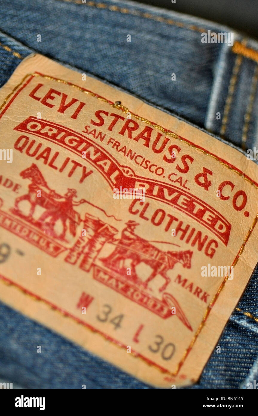 Levi Strauss Jeans Label - Stock Image