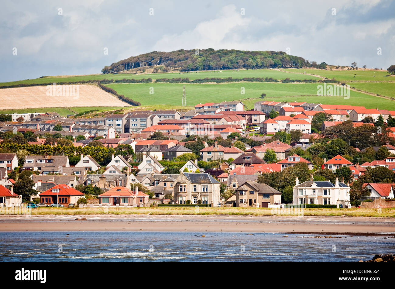 Part of the North Ayrshire coastal town of Ardrossan, on the banks of the Firth of Clyde. - Stock Image