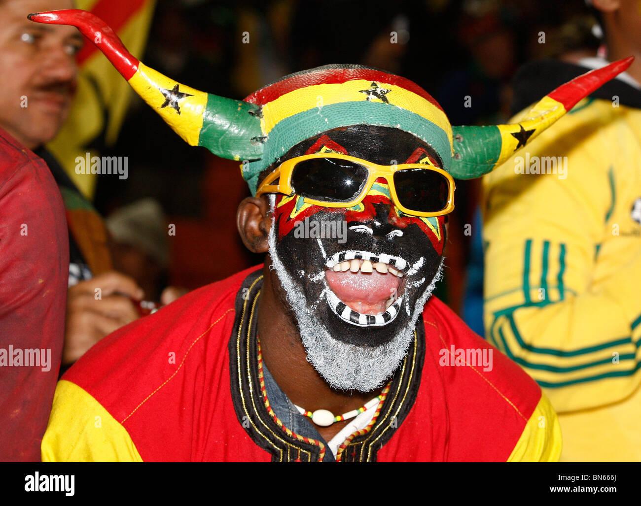 GHANA FAN URUGUAY V GHANA SOCCER CITY JOHANNESBURG SOUTH AFRICA 02
