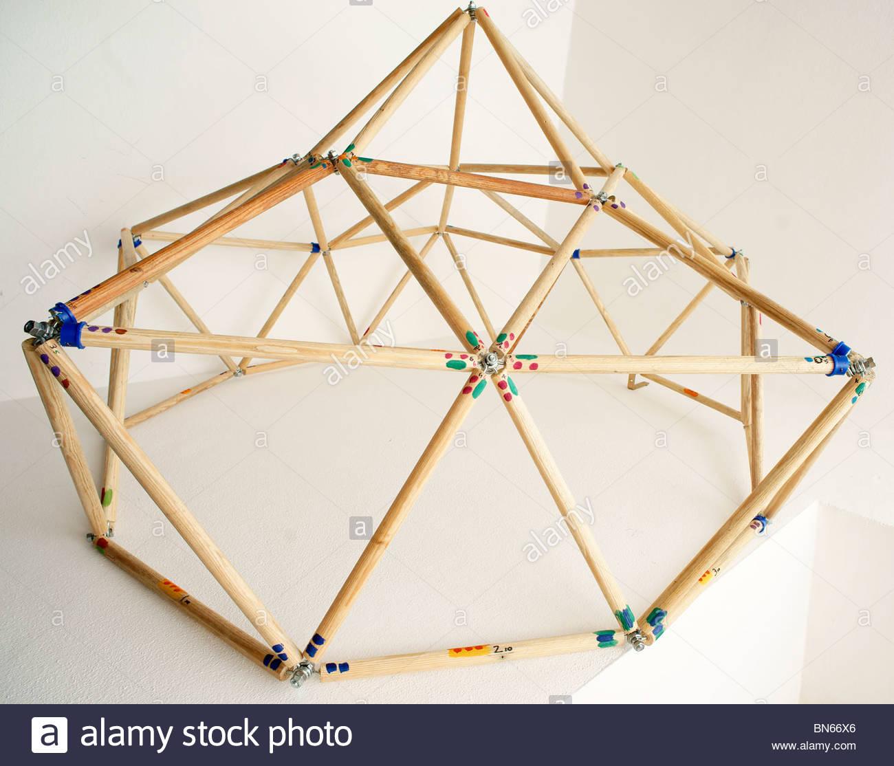 Handmade toy Geodesic Dome Stock Photo: 30255294 - Alamy