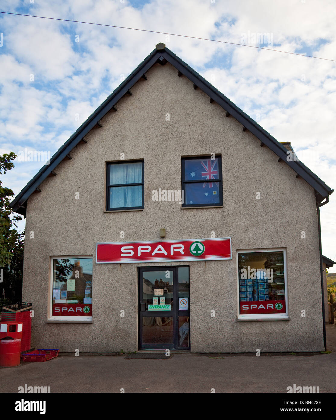 The general store on the island of Iona, Inner Hebrides, Scotland, UK Stock Photo
