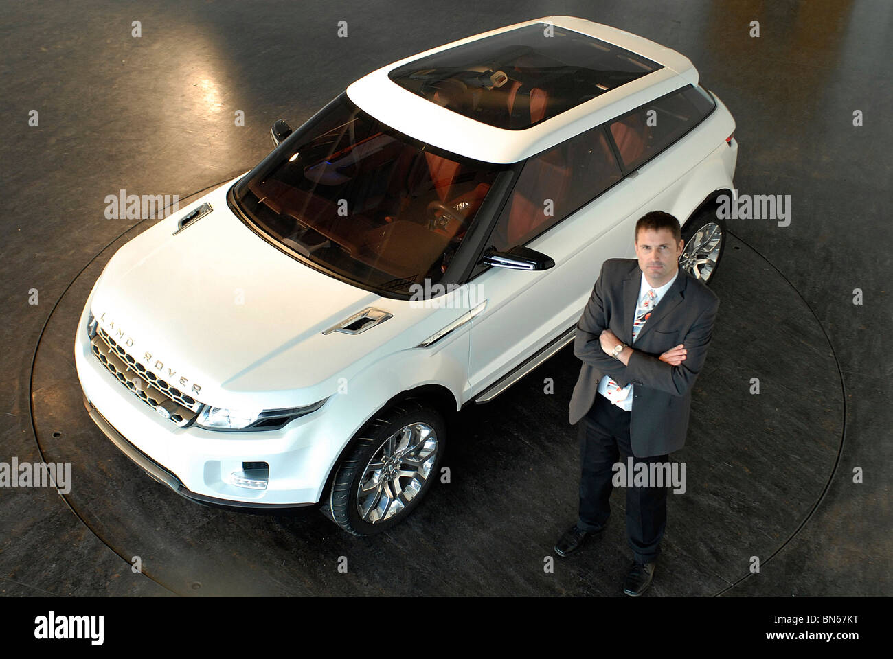 https://c8.alamy.com/comp/BN67KT/managing-director-phil-popham-with-the-land-rover-lrx-concept-car-BN67KT.jpg