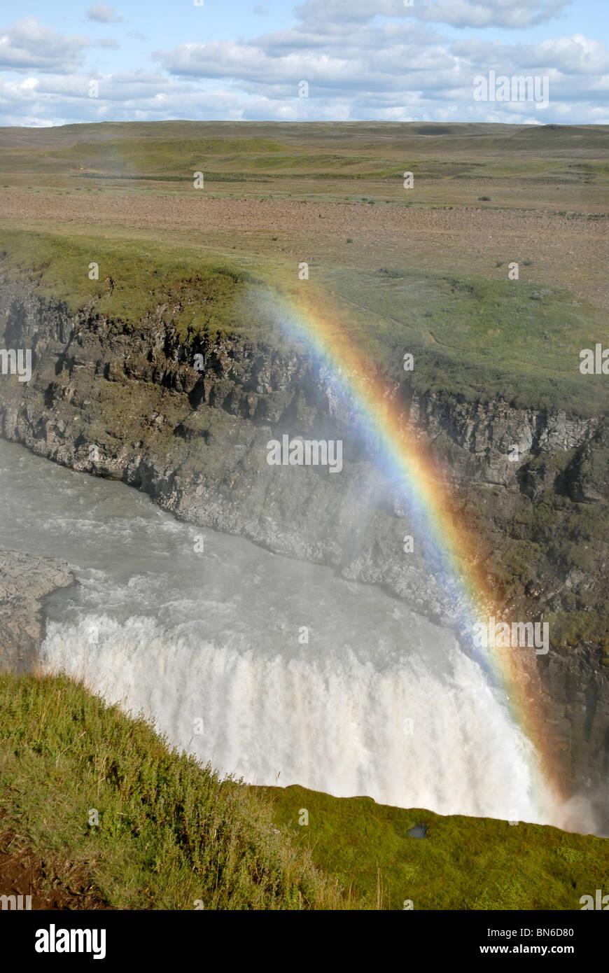 Gullfoss waterfall, Iceland. - Stock Image
