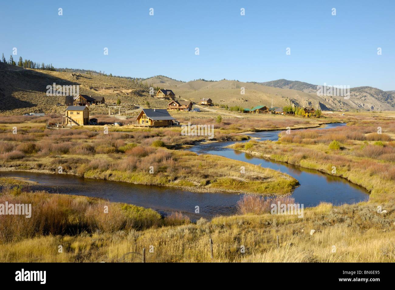 Stanley, Sawtooth Mountains, Idaho, USA - Stock Image