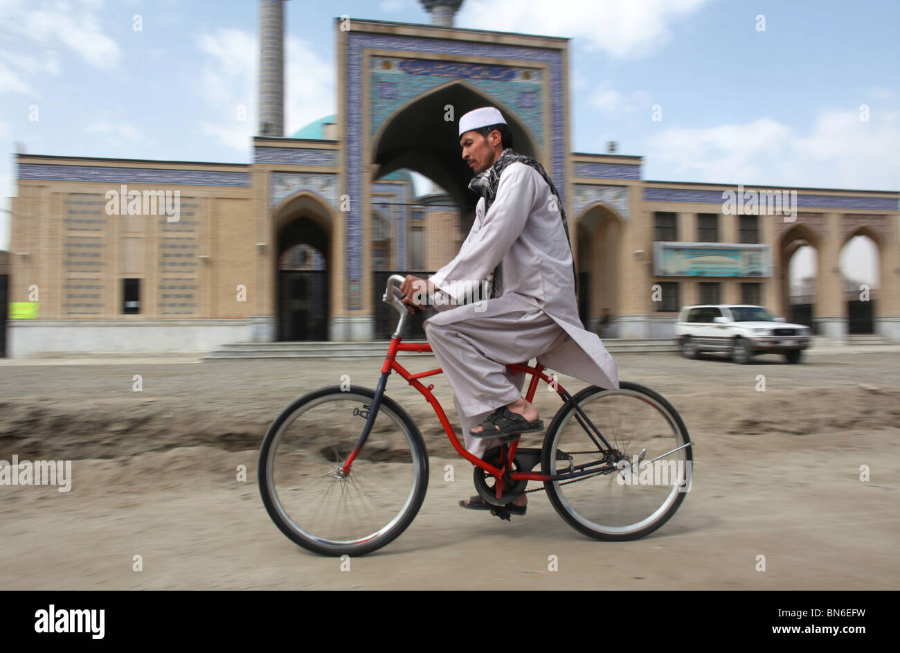 Second hand bicycles from Holland are donated to Afghanistan Stock